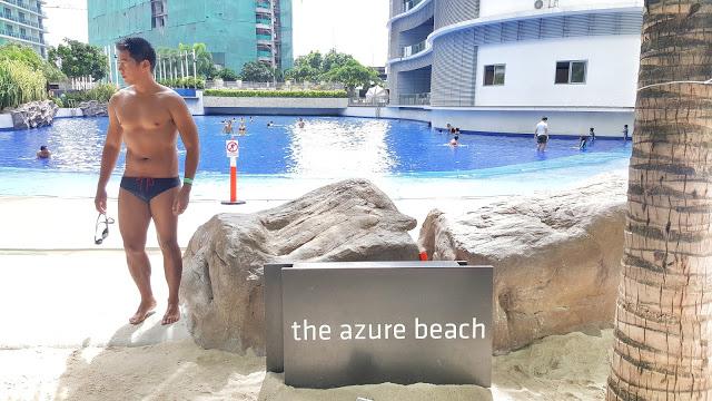 swimming at azure beach club