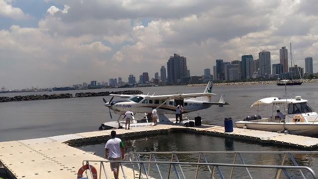 air juan seaplane in manila bay
