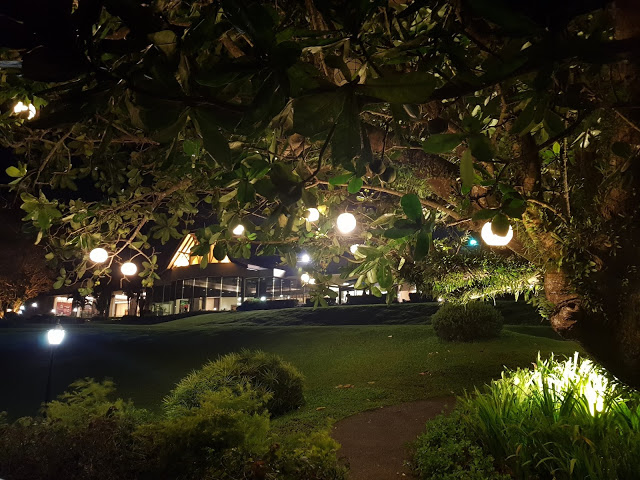 taal vista hotel at night