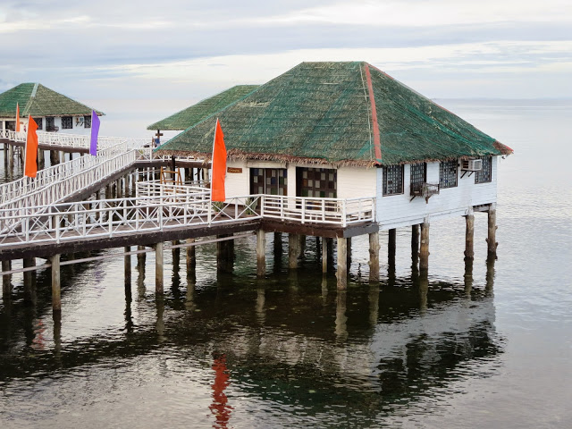 floating cottages at stilts calatagan
