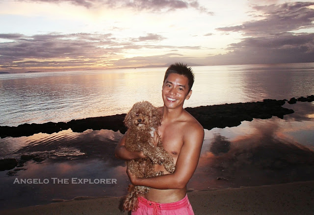 with my dog at stilts calatagan