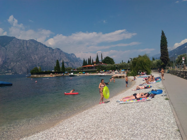relaxing at lake garda italy