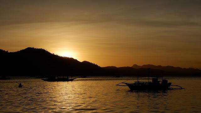 coron palawan sunset