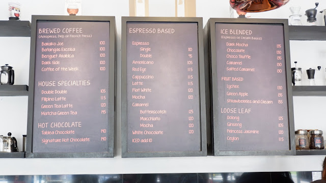 cafe de lipa menu