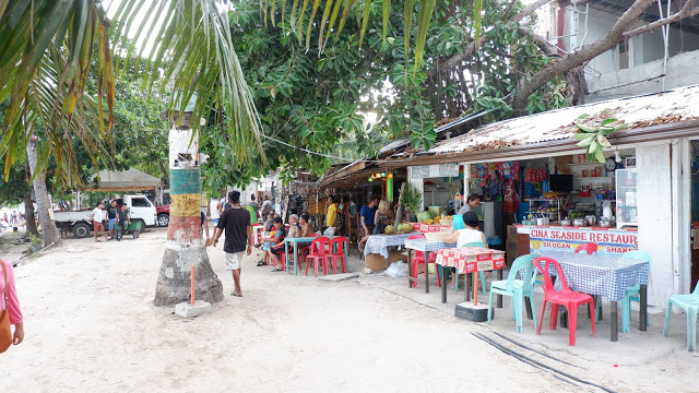 shops along alona beach bohol