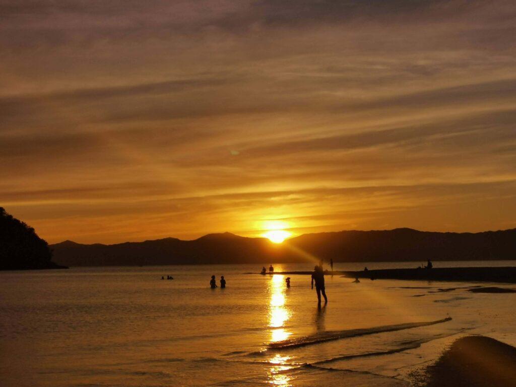bon bon beach romblon sunset