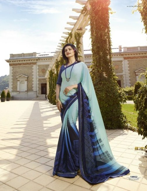 Pure Georgette Shahi Designer Saree in Prachi Desai Style