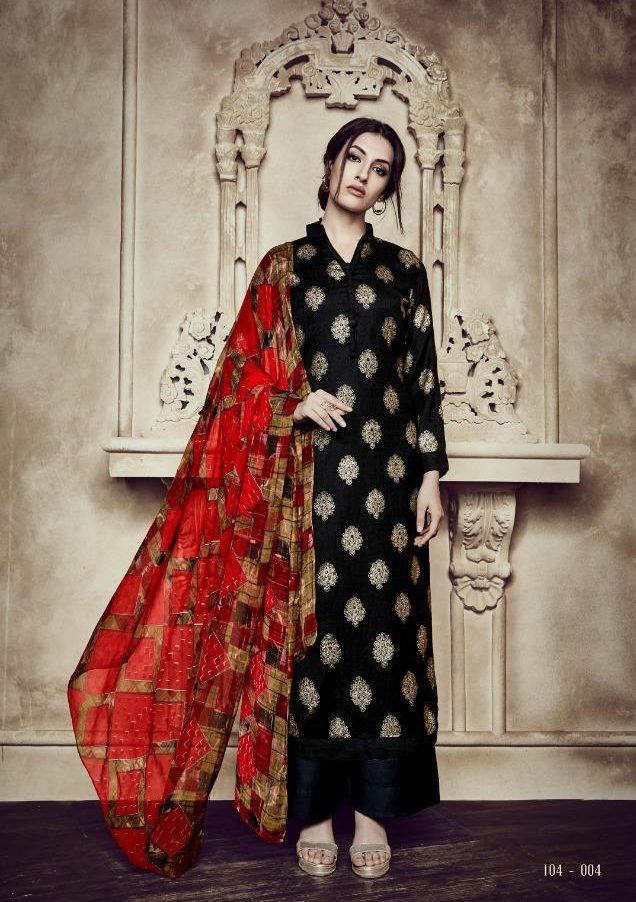 Black Colour Digital Printed Salwar Kurta With Dupatta