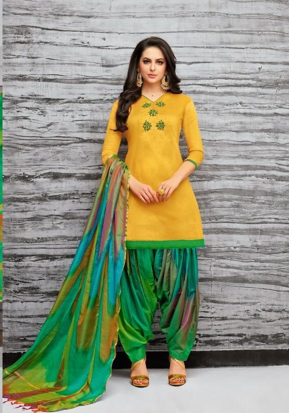 New Fancy Patiala Salwar Suits In Yellow Colour