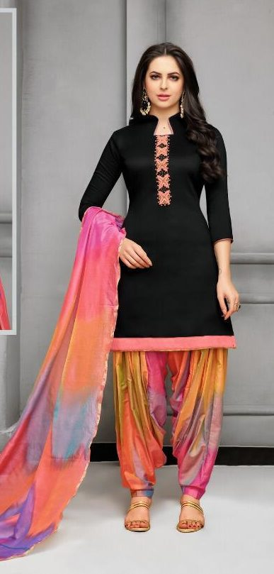 New Fancy Patiala Salwar Suits In Black Colour