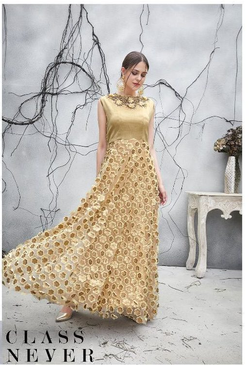 Party Wear Gown Light Colour
