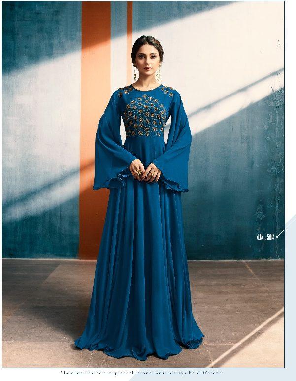 New Fancy Party Wear Gown In Blue Colour