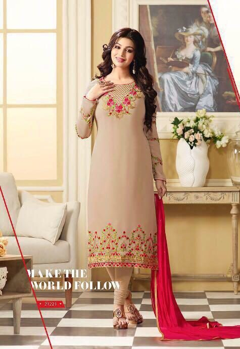 Ayesha Takia Style Heavy Embroidered Salwar Suits with Dupatta