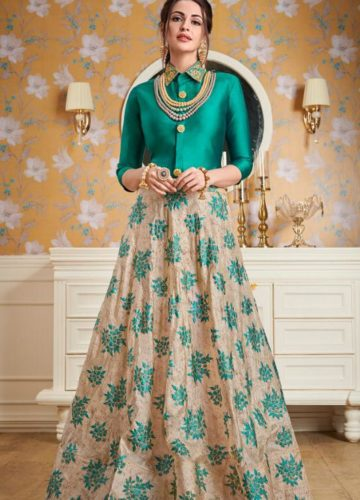 720232598 New Collection of Wedding Wear Top with Skirt ₹2,699.00