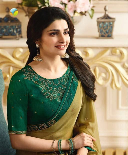 Prachi Desai Style Royal Designer Saree in Lemon Colour