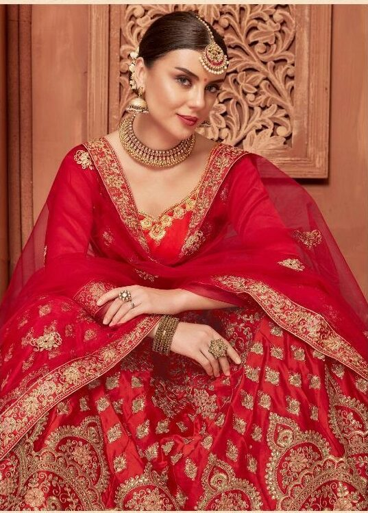 Red Colour Latest Bridal Shahi Joda