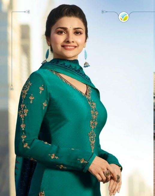 Prachi Desai Style Patiala Salwar Suits in Jade Colour