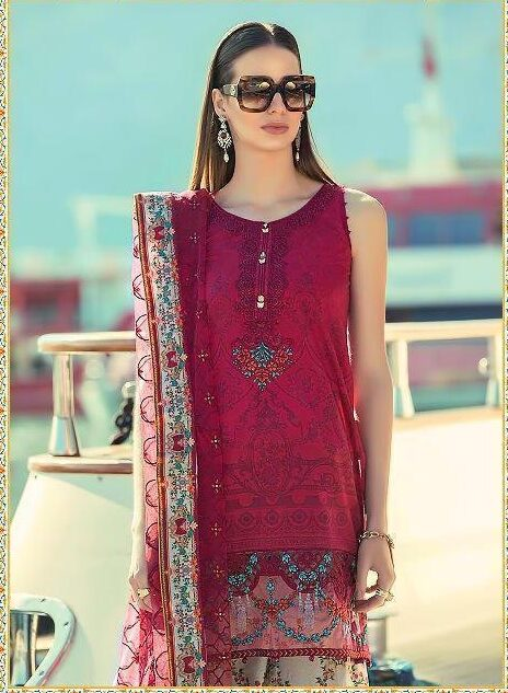 Mariya Lawan Hot Summer Cool Cotton Embroidered Designer Salwar Suits