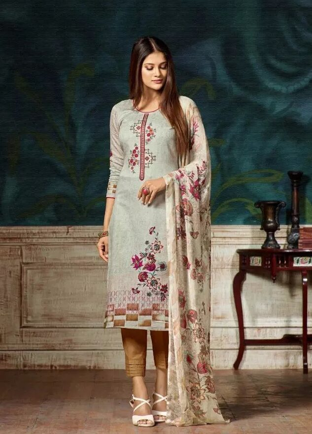 Digital Embroidered Printed Suits Salwar