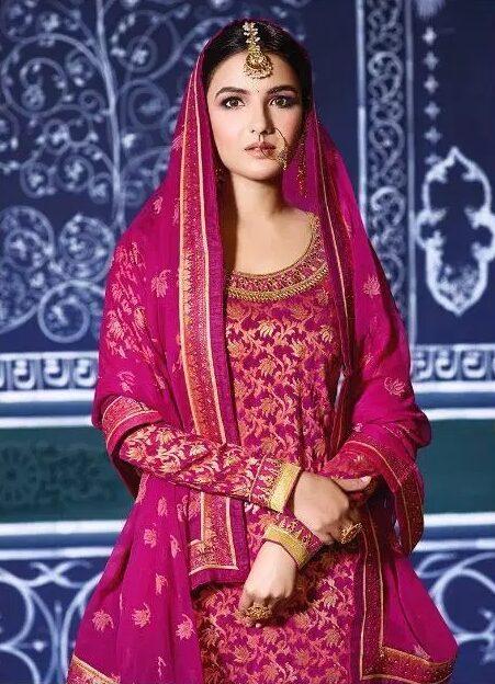 Latest Style Punjabi Salwar Suits with Heavy Dupatta