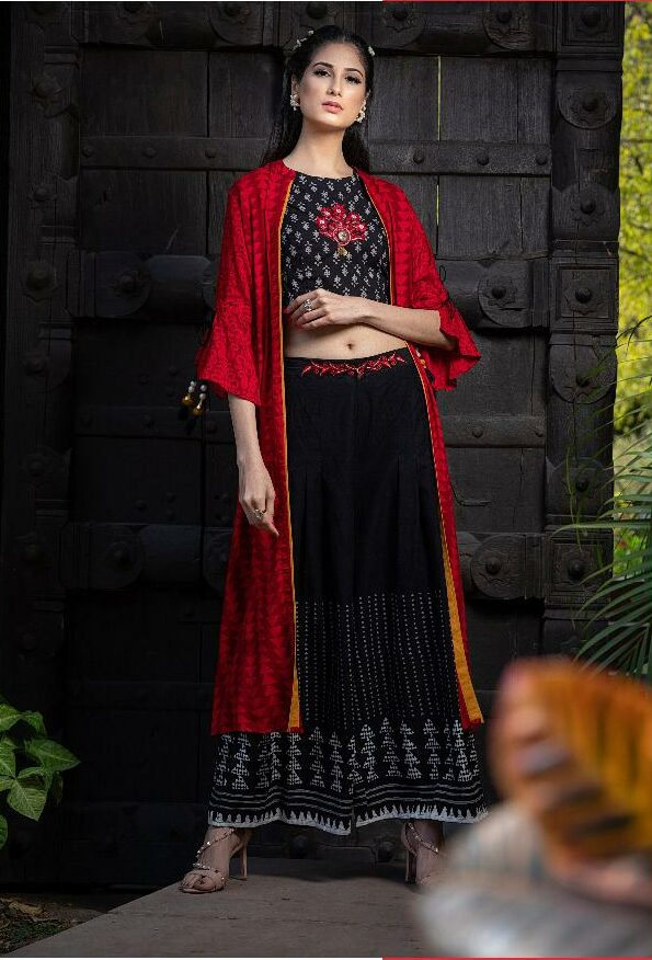 Indo Western Latest Lolipop Dresses Palazo with Top and Shrug