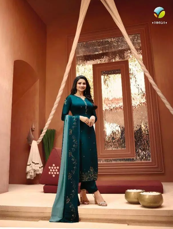 Prahci Desai Rich Look Lolipop Salwar Kameez with Heavy Embroidered Dupatta