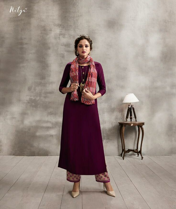 Best Summer Wear Palazzo with Long Designer Kurta Scarf