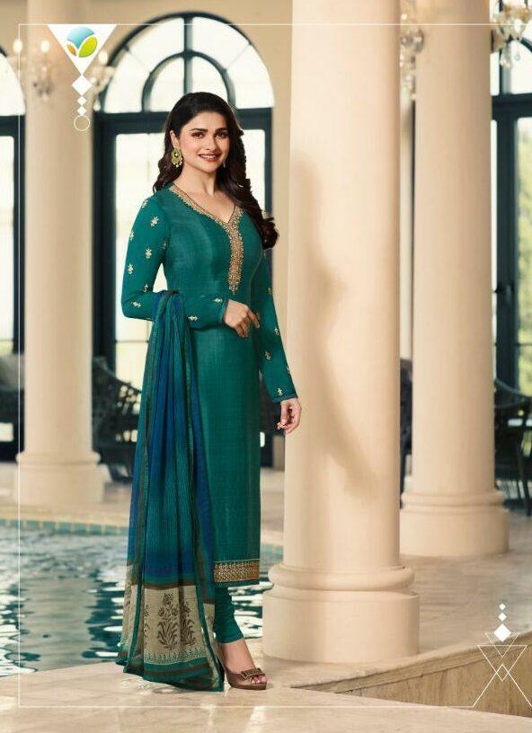 Jade Colour Prachi Desai Style Party Wear Salwar Kurta