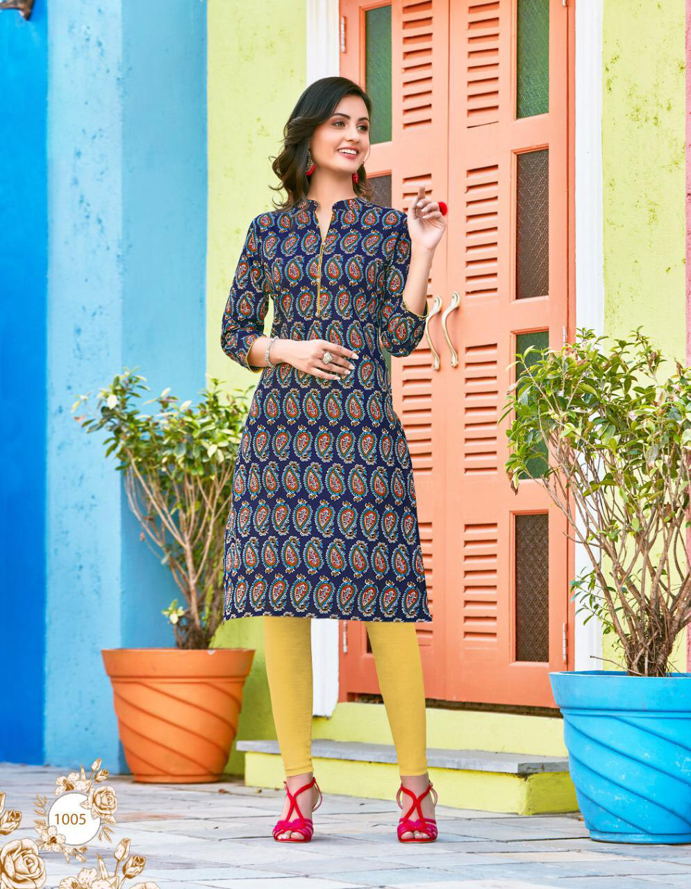 Cheap and best royal summer kurti for women Royal Blue  Colour