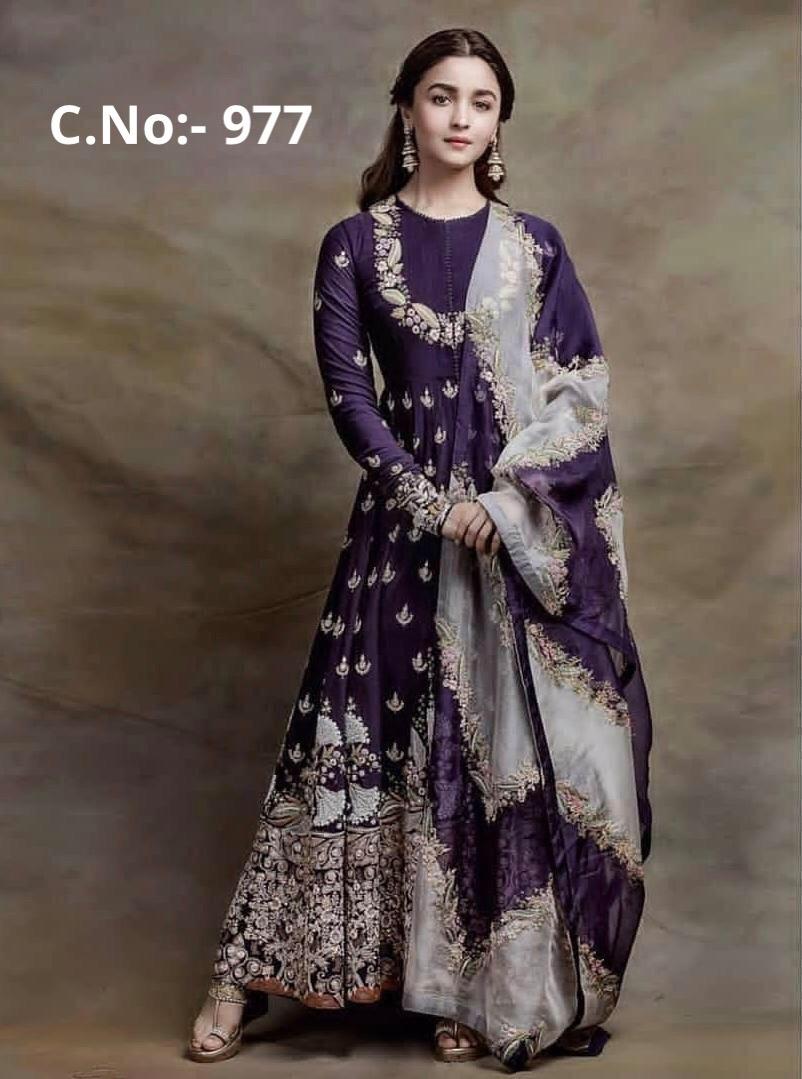 Alia Bhatt in Gown Purple Colour