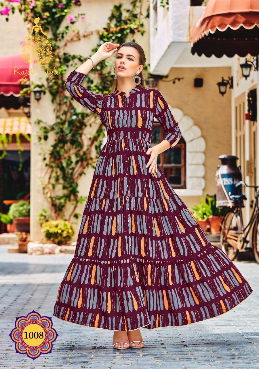 Digital Print Mehroon Colour Plus Size Clothing in Full Sleeves