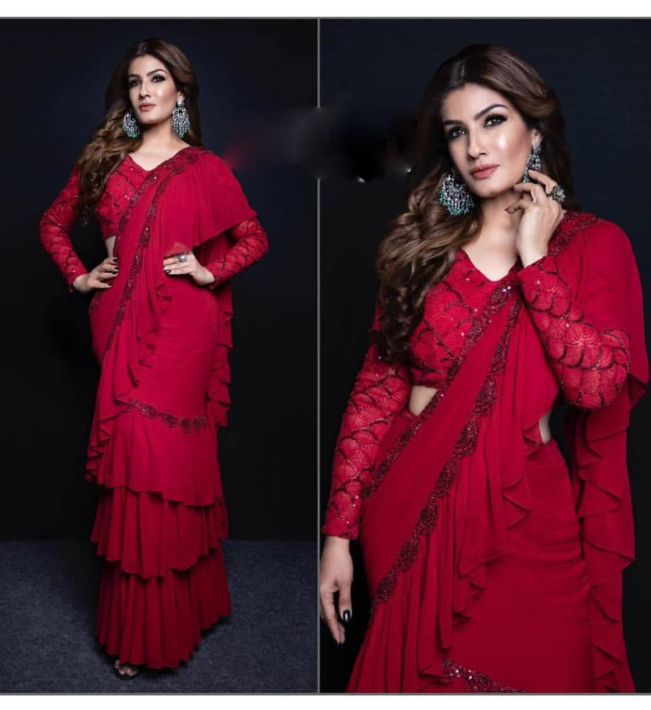 Raveena Tandon Saree