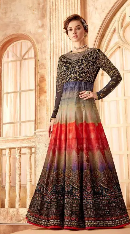 Royal Blue New latest Designer Party Wear Long Gown