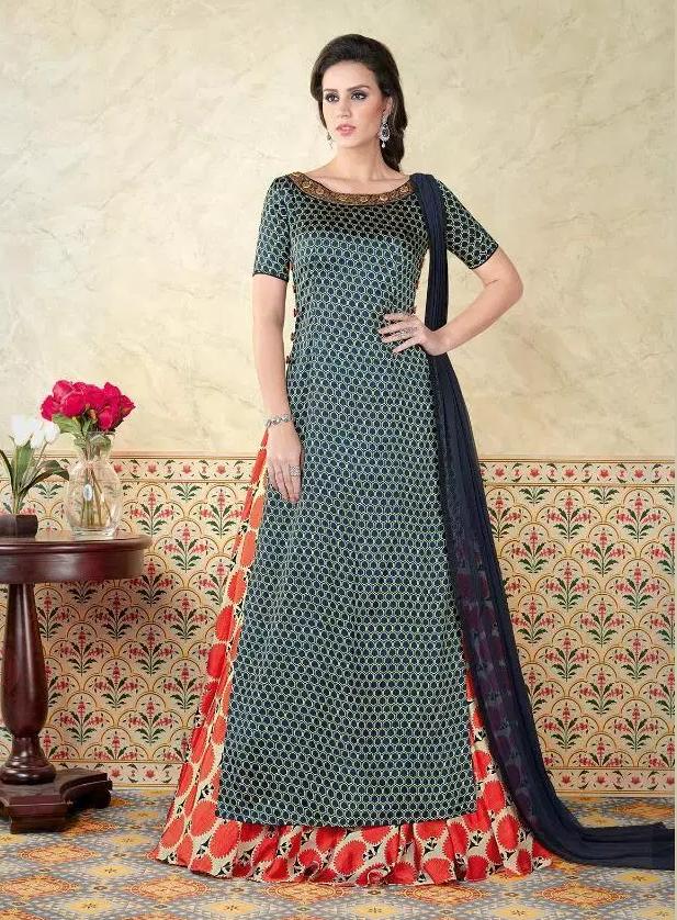Stylish Dresses for wedding in Muslin Silk