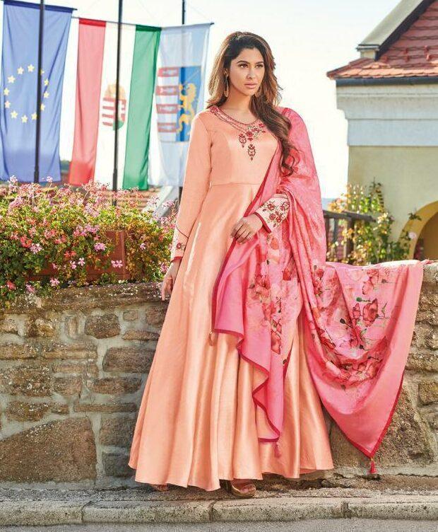 Essence Cantaloupe Colour Ceremonial Gown