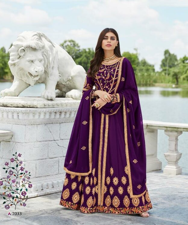 Brinjal Colour Wedding Dresses