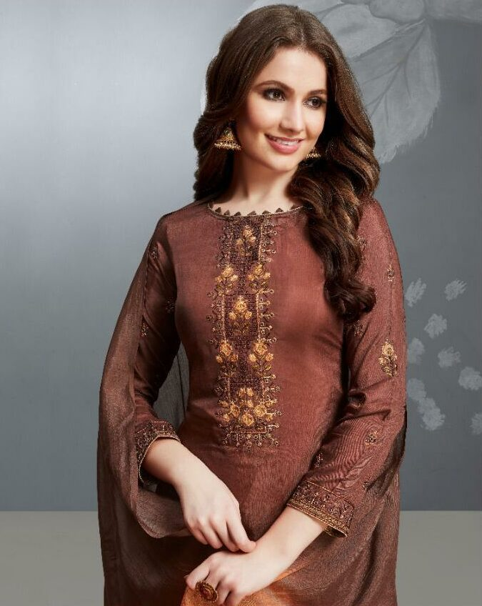Chocolate Bahu Begum Dresses