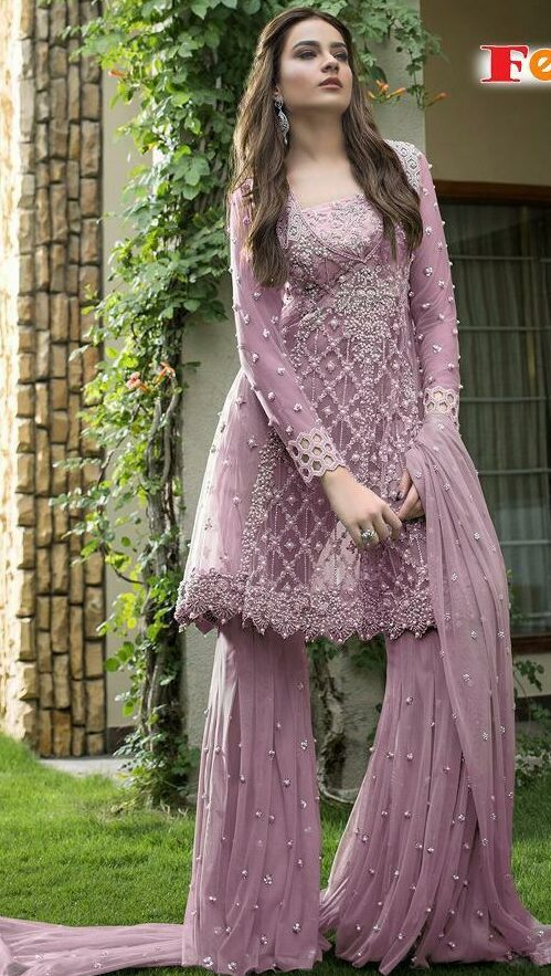 Light Purple Colour Suit Combination