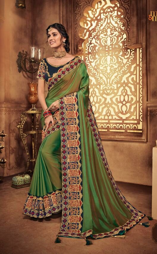 Dark Green Wedding Sarees