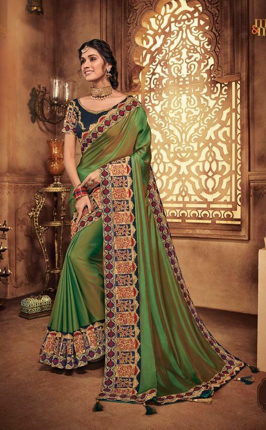 Dark Green Wedding Sarees