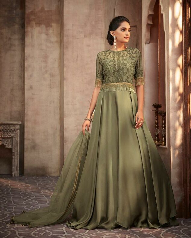 Light Green New Dress Design Indian