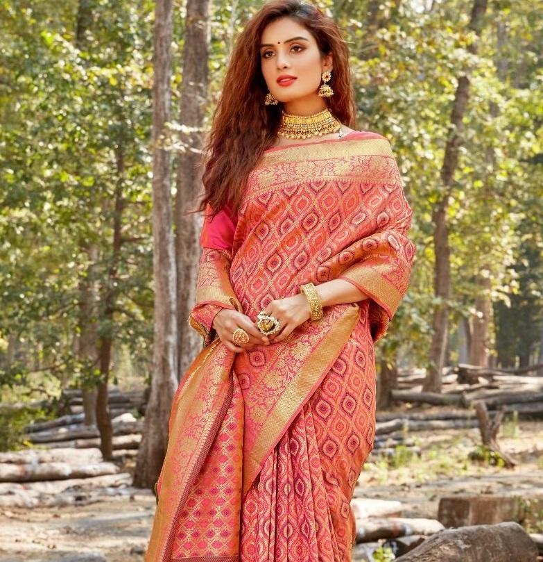 Low Price Party Wear Saree in Banarasi Silk