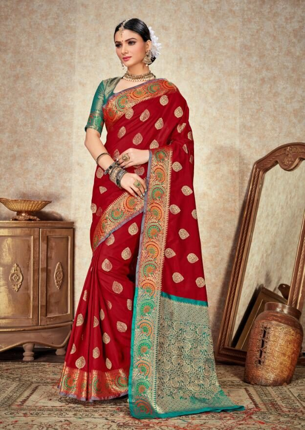 Red Silk Saree At Low Price