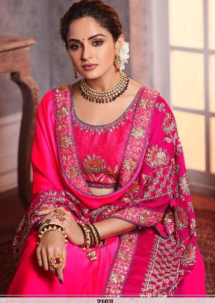 Party Wear Heavy Embroidered Pink Saree Blouse