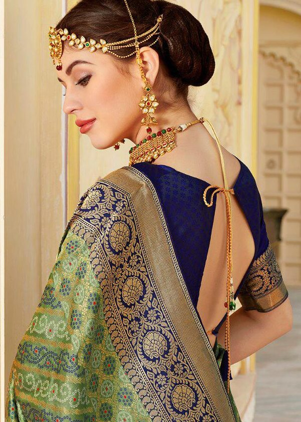Jaipuri Print Silk Saree for Wedding with Price