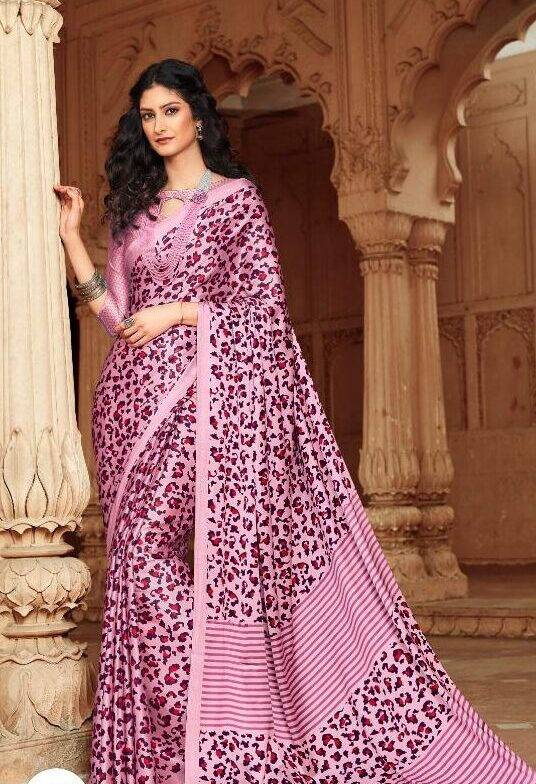 Wild Animal Print Unique Designer Saree