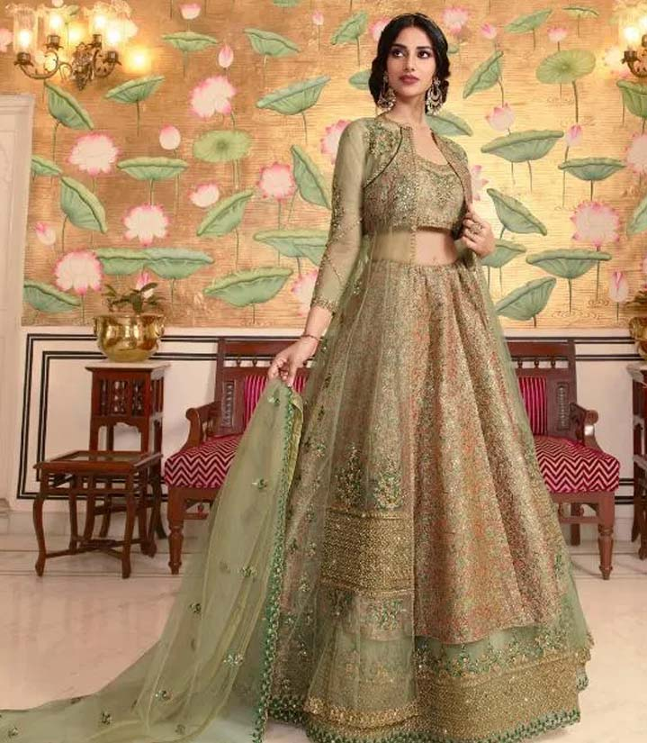 Latest Designer Net Lehenga Choli