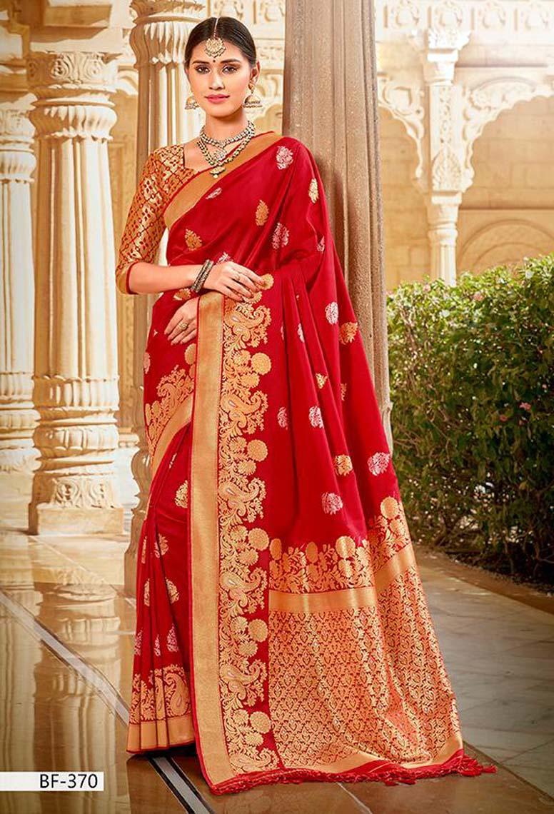 Latest Pure Silk Saree in Red