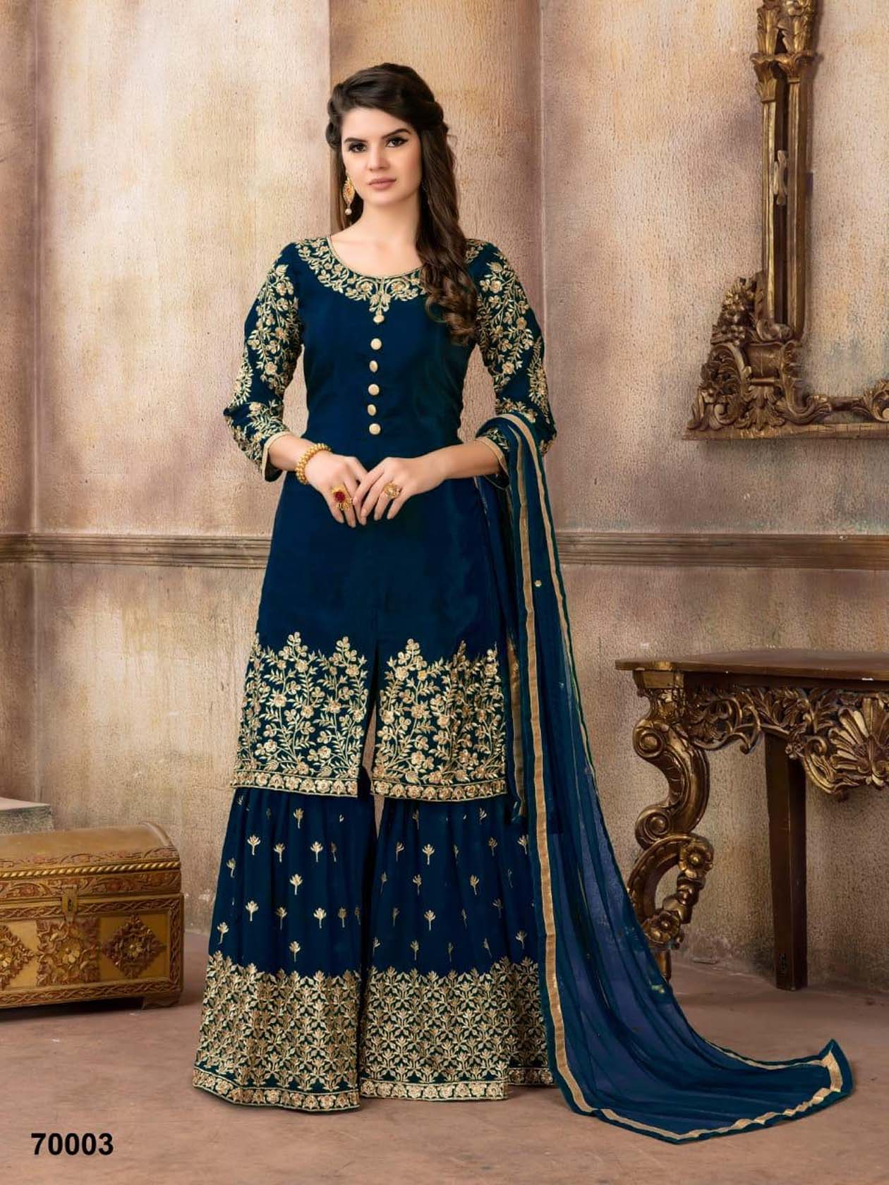 New Bridal Suit Navy Blue Color