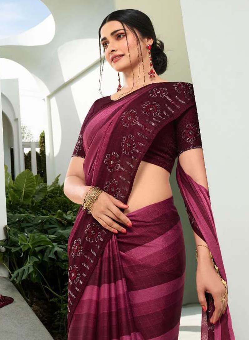 New Fashion Designr Diamond Work Saree